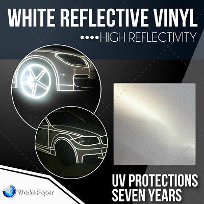 High Reflectivity White Reflective Sign Vinyl Adhesive Plotter 24x 10 Feet 1