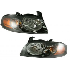 Headlights Headlamps Lamp Pair Set NEW for 04-06 Nissan Sentra SE-R Spec V