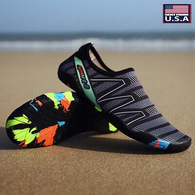 Men Quick-Dry Water Shoes Barefoot Aqua Socks Beach Swim Pool Surf ()