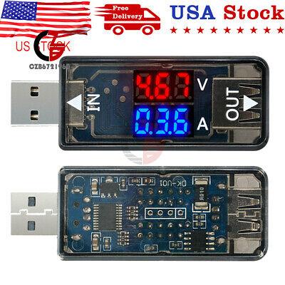 Digital 3-digit 5v Dual Led Usb Current Voltage Meter Voltmeter Ammeter Tester