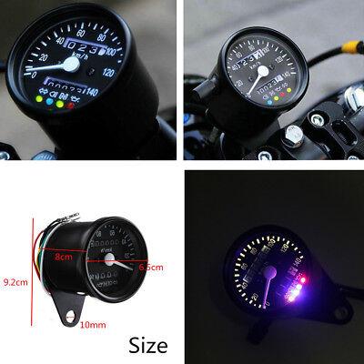 MOTORCYCLE LED BACKLIGHT SIGNAL DUAL ODOMETER KMH SPEEDOMETER GAUGE 12