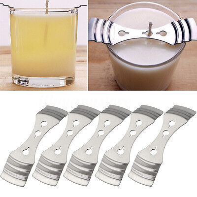 5Pcs Centering Device Holder 10*2.5cm Metal Candle Wicks  Candle Making Supplies