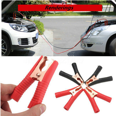 4pcs 100a Electrical Crocodile Alligator Clips Car Battery Insulated Test Lead