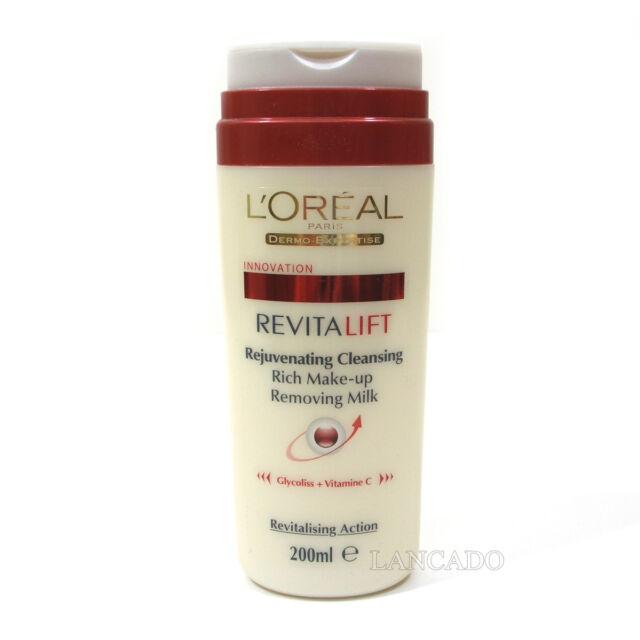 L'oreal Revitalift Rejuvenating Cleansing  Removing Milk 200ml Batch Code:28G100