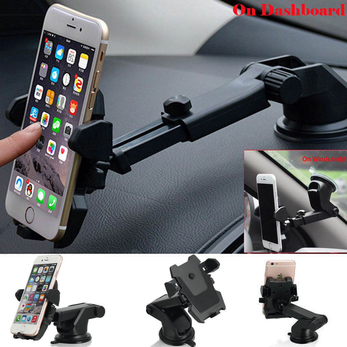 Universal Car Holder Windshield Dash Suction Cup Mount Stand for Cell Phone GPS Cell Phone Accessories