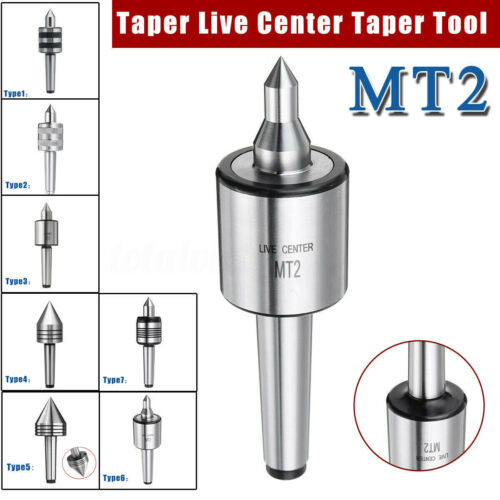 MT2 Live Center Morse Taper 2MT Triple Bearing Spindle Lathe Milling CNC Chuck