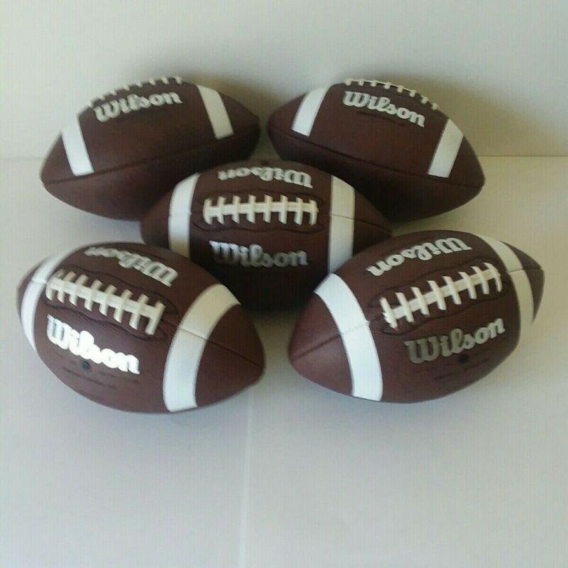 5 Official Size Wilson Footballs