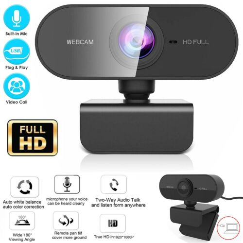 Webcam With Microphone Real Full HD 1080P Streaming Camera For PC MAC Laptops US Computers/Tablets & Networking