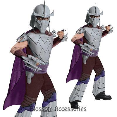 CK229 Teenage Mutant Ninja Turtle TMNT Deluxe Shredder Kids Boys Hero Costume