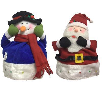 Blinkende Weihnachtsmütze Damen Herren Weihnachtsmann Schneeman Weihnachten