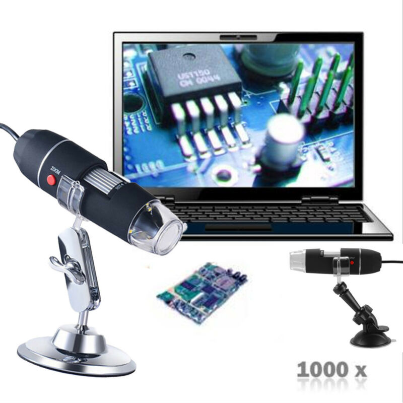 1000X 8LED USB Microscopio Digitale Endoscopio Fotocamera Con Zoom