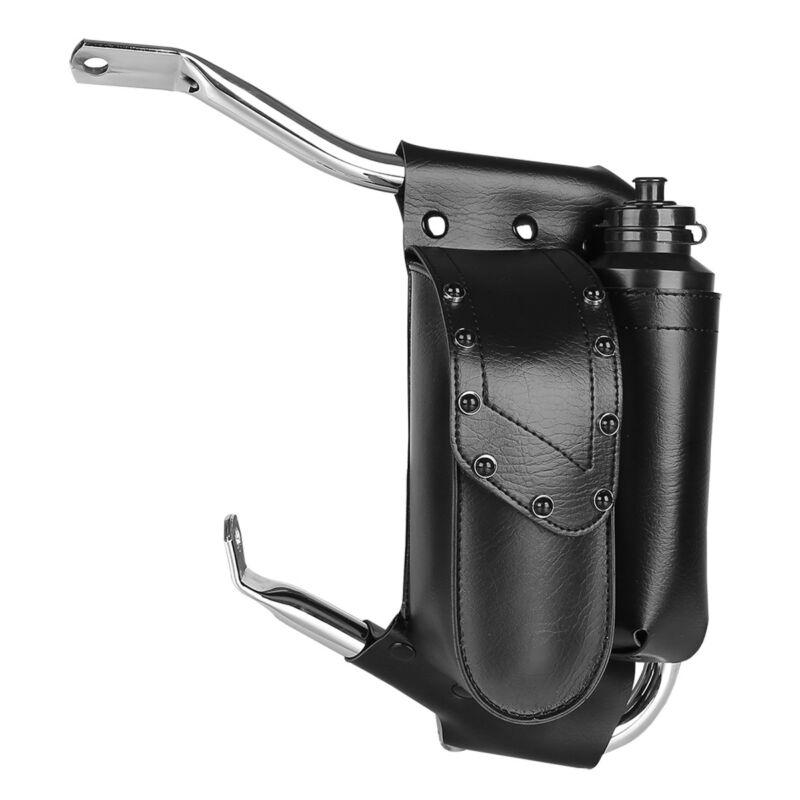 Universal Water Bottle Drink Holder Saddlebag Guard Bag Set For Harley Touring