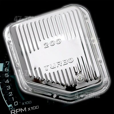 STEEL CHEVY GM TURBO TH-200 TRANSMISSION PAN STOCK CAPACITY - CHROME