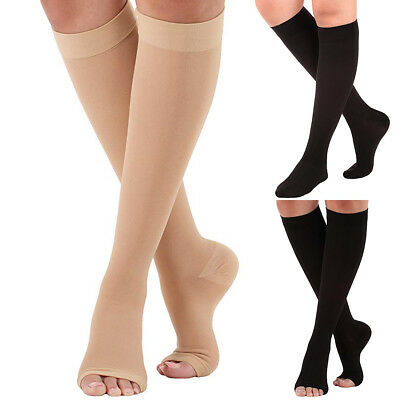 Closed Toe Compression Stocking (23-32mmHg Medical Compression Socks Knee High Support Stockings Open/Closed Toe )