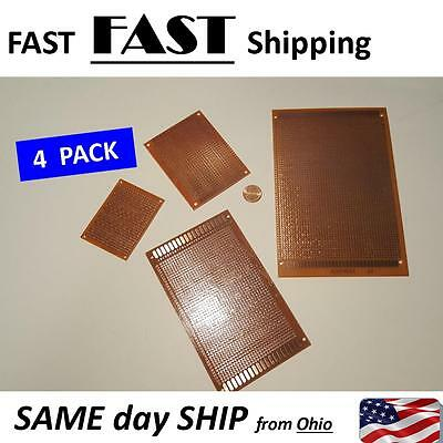 4 Pack Diy Prototyping Board Pcb Printed Circuit Prototype Breadboard Stripboard
