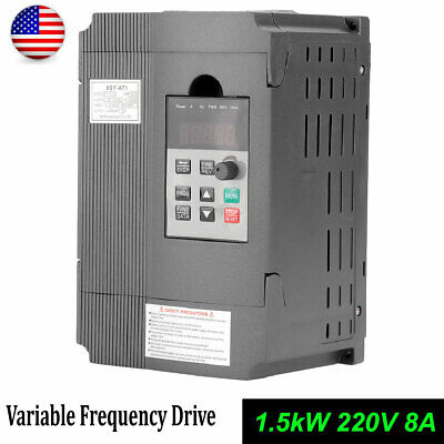 1.5kw Single Phase Motor Speed Control Variable Frequency Drive Inverter 8a