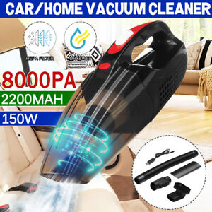 8000pa Cordless Car Home Vacuum Portable Hand Held Cleaner Wet&Dry Rechargeable