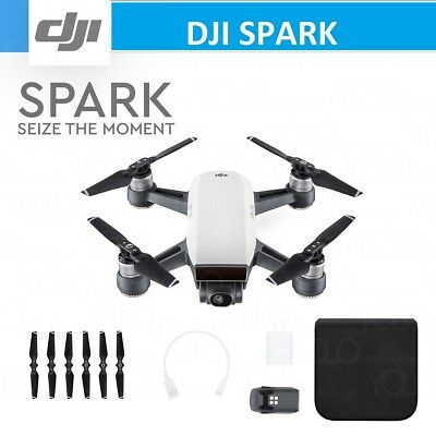 DJI SPARK Quadcopter Drone Alpine White 2-Axis Gimbal 12MP Camera Active Track