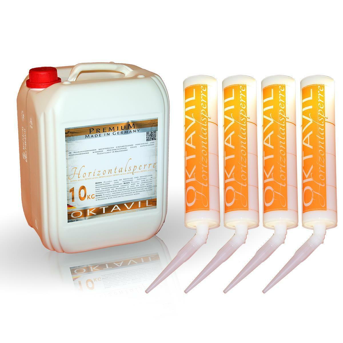 Oktavil Horizontalsperre - Premium - 40 Kilo plus 48 Oktavil Injektionstrichter
