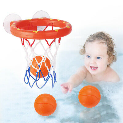Baby Kids Child Bathtub Toy Mini Basketball Hoop & 3 Balls Set Plastic Bath Toys