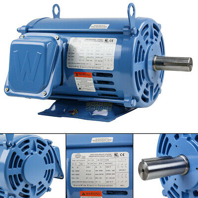 7.5 Hp 3 Phase Electric Motor 1800 Rpm 213t Frame Odp Open Drip Proof 230460v