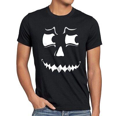 Grusel Geist Halloween Herren T-Shirt Fasching Kostüm Kürbis-Kopf - Herr Kürbiskopf Kostüm