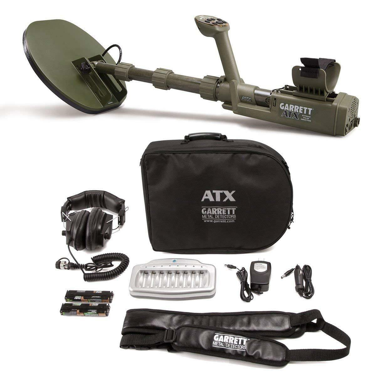 """Garrett ATX Extreme Pulse Induction Metal Detector with 11x13"""" DD Closed searchc"""