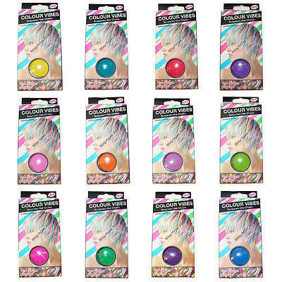 VIBES TEMPORARY COLOURS HAIR CHALKS DYE FANCY DRESS HALLOWEEN NEW YEARS PARTY (Vibe Halloween Party)