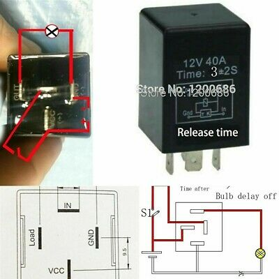 Automotive 12v Time Delay Relay Spdt 10 Second Delay Release Off 10 Mini Relay