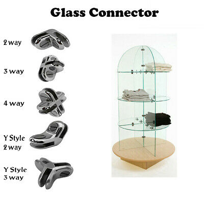 Glass Shelf Cube Connector Joiner Holder Clip Used 316 Tempered Glass Shelf