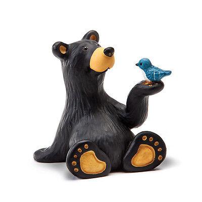 Big Sky Carvers Bearfoots Bear Minnie Bear with Bird Mini Bear Figurine