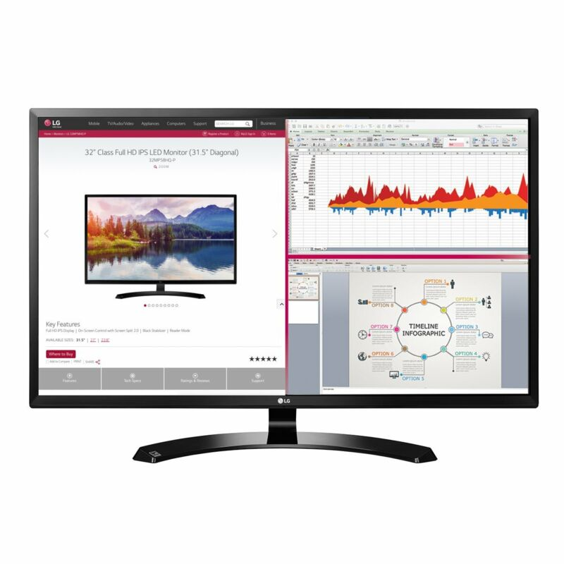 LG 32-Inch Full HD IPS Monitor with HDMI -  32MA70HY-P