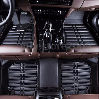 For TOYOTA RAV4 2013-2016 Black Car Floor Mats Front & Rear Liner Mat Waterproof