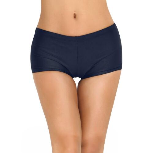83ff4fa74b Details about Boyleg Swim Shorts Women's Boy Cut Gym Briefs Bikini Beach  Bottoms Stretch Pant