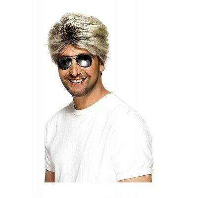 Blonde 80s Wig Adult Miami Vice George Michael Wham - 80s Wigs