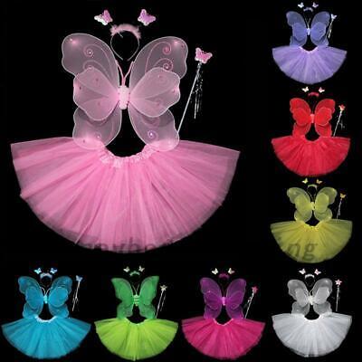 Fairy Dress For Kids (Kids Monarch Butterfly Fairy Tutu Princess Girls Fancy Dress Costume Outfit)