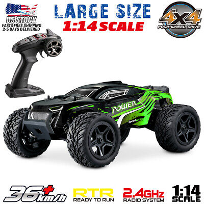 1:14 Scale 4WD Remote Control RC Car Truck High Speed Racing Car Vehicle -