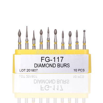 1 Set Dental Composite Repair Handpiece Diamond Burs Air Turbine Kit Fg-117