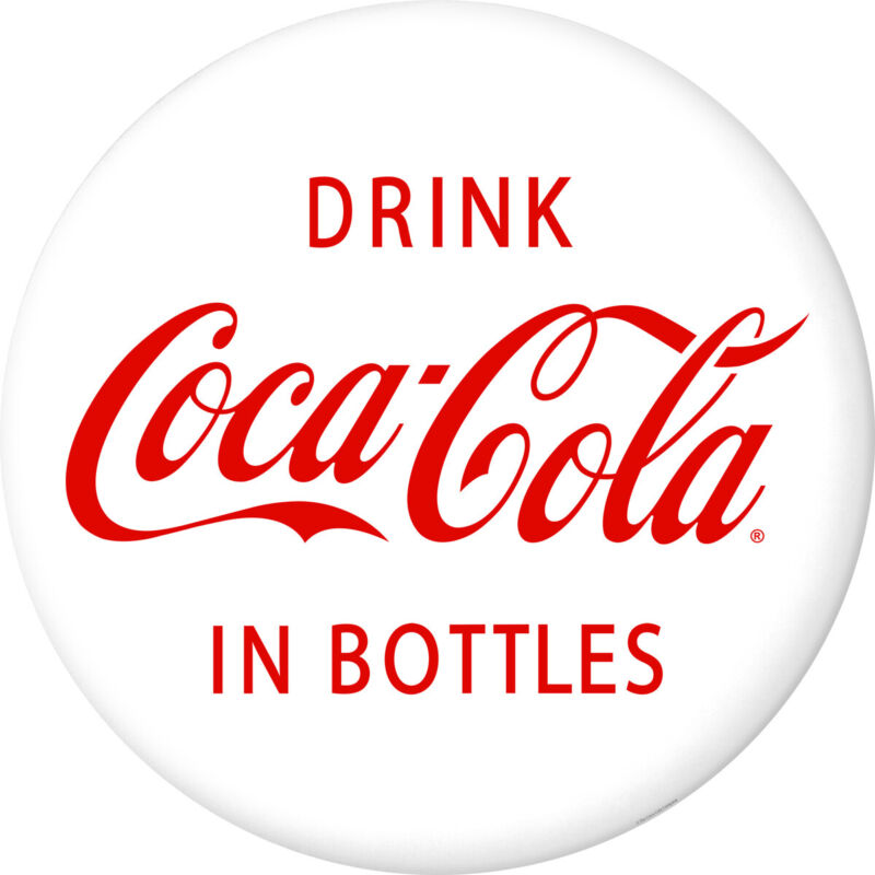 Drink Coca-Cola in Bottles Disc Decal 24 x 24 1930s Style White Removable Decor
