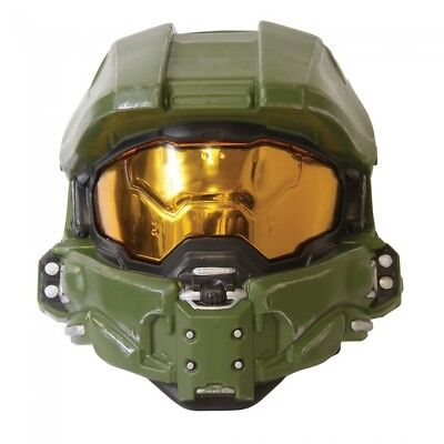 Master Chief Adult Mask Halo XBOX John-117 Mask Halloween Green Costume