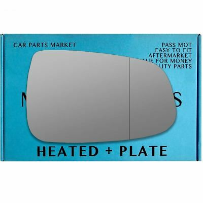 Right side Wide Angle wing mirror glass for Tesla Model S 2012-2020 heated plate
