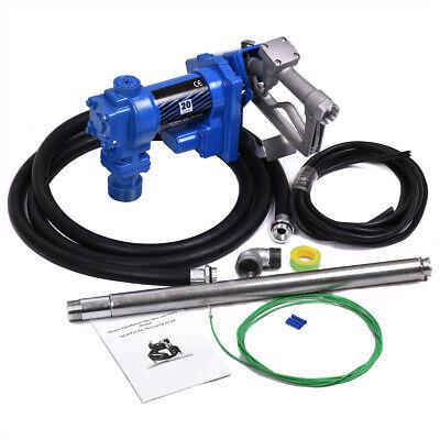 Fuel Transfer Pump 12 Volt 20 GPM Diesel Gas Gasoline Kerosene Car Truck Tractor