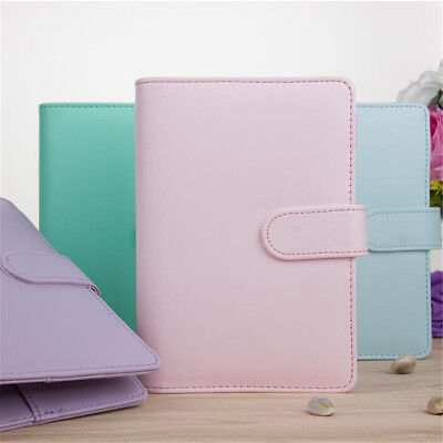 Pu Leather A5 Weekly Monthly Planner Diary Loose-leaf-ring-binder Notebook Cover
