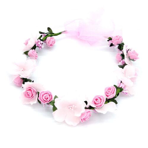 50CM Blumen Haarband Stirnband Krone Für Braut Hochzeits Haar Dekor Kränze Nett