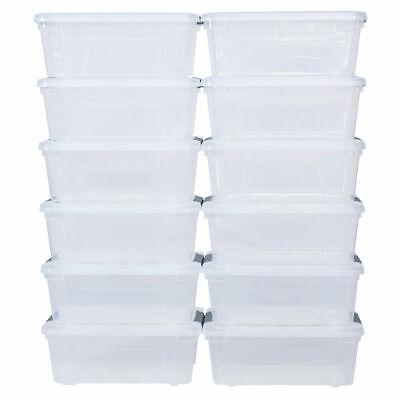 12 Pack 144Quart 156Liter Latch Stack Storage Box Tubs Bins Latches Handles](Plastic Storage Tubs)