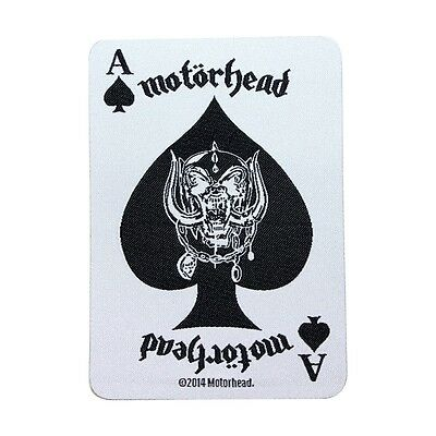 Motorhead Ace of Spades Card & War-Pig Motif Music Band Sew On Applique Patch