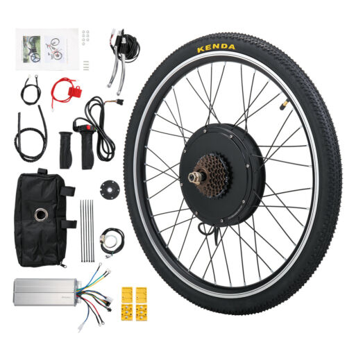 "26"" Electric Bicycle Rear Wheel 48V 1000W Ebike Hub Motor Conversion Kit"