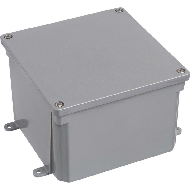 Steel City 6 In. 6 In. 4 In. Junction Box E987RR  - 1 Each
