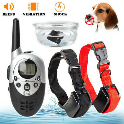 1000 Yard Pet Dog Training Collar Rechargeable Waterproof LCD Shock Vibra Remote