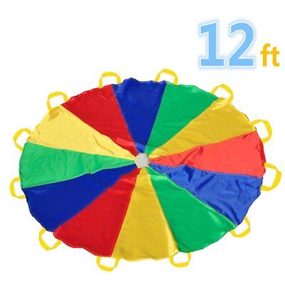 Parachute 12 Foot for Kids with 12 Handles Play Parachute for 8 12 Kids Tent